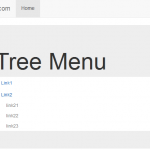 Tree Menu : Simple HTML and jQuery