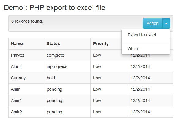 export-to-excel with php and mysql